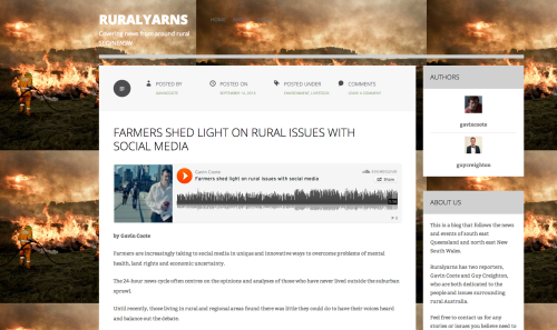 The Rural Yarns blog ... best overall