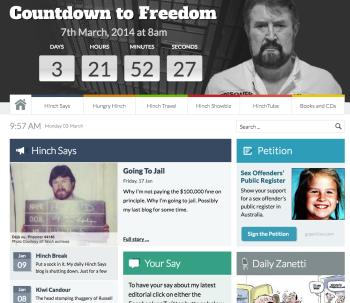 Derryn Hinch's 'Human Headline' blog - Countdown to Freedom