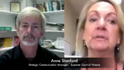 Listen to Supreme Court of Victoria Strategic Communication Manager Anne Stanford on open justice.
