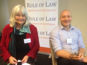 UTS professor Wendy Bacon and Melbourne Law School's Jason Bosland
