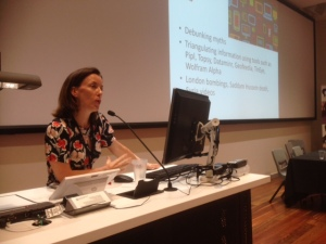 ABC's Kellie Riordan addressing the JERAA conference on her research into digital and legacy media ethics
