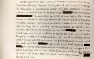 One of the manually redacted pages sent out to reviewers before our book was reprinted