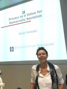 Professor Beate Roessler from the University of Amsterdam