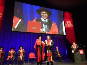 Journalist Peter Greste receives his honorary doctorate at Griffith University